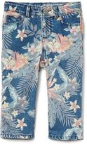 Gap Stretch tropic floral straight crop jeans
