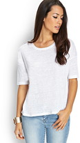 Forever 21 Contemporary Knit Linen Tee