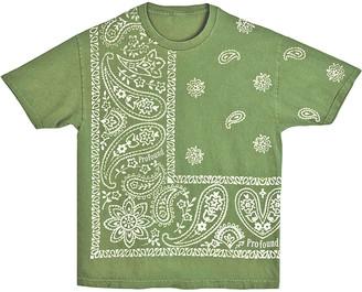 PROFOUND Men's Bandana Paisley Printed Graphic T-Shirt