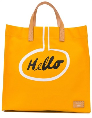 Paul Smith x Christoph Niemann Hello cotton tote bag