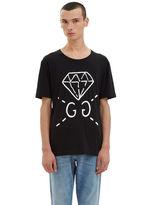 Gucci Men's Guccighost® Screen- Printed T-shirt In Black