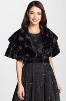 Eliza J Women's Faux Fur Caplet