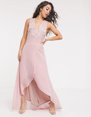 TFNC lace back midi dress