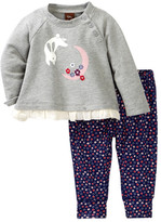 Tea Collection Moon Rabbit Top & Pants Set (Baby Girls)