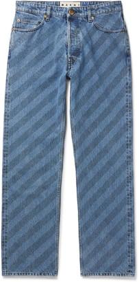 Marni Striped Denim Jeans - Men - Blue