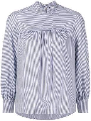 Tory Burch striped bow blouse