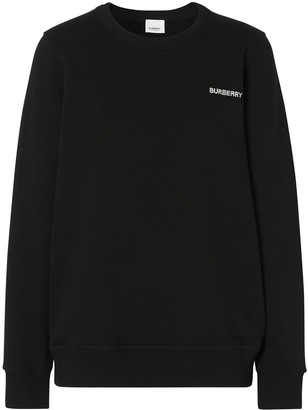 Burberry Crystal-Embellished Logo Sweatshirt