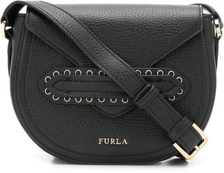 Furla pebbled logo cross-body bag