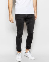 Asos Super Skinny Trousers In Heavy Twill
