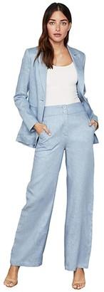 BCBGMAXAZRIA Long Sleeve Blazer (Light Blue) Women's Clothing