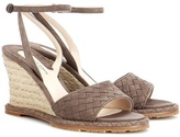 Bottega Veneta Intrecciato suede wedge sandals