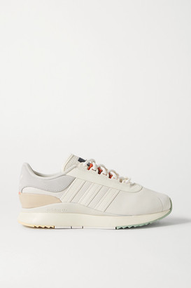 adidas Sl Andridge Leather And Suede Sneakers - Light gray
