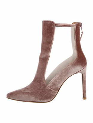 Stuart Weitzman Mesh Accents Boots Pink