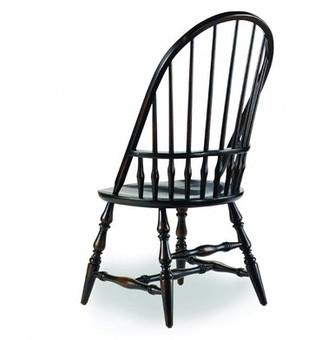Hooker Furniture Sanctuary Windsor Side Chair in Ebony (Set of 2
