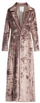 Rosie Assoulin Notch-lapel velvet coat