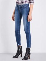 Paige Verdugo raw-hem skinny mid-rise jeans