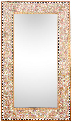 One Kings Lane Vintage Zellige Bone Inlay Mirror - de-cor - brown/ivory