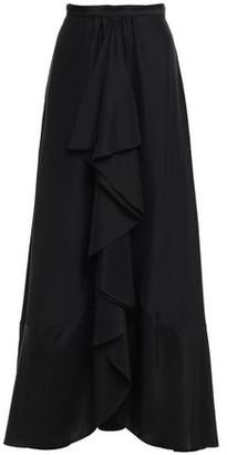 Tome Flared Silk Crepe De Chine Maxi Skirt