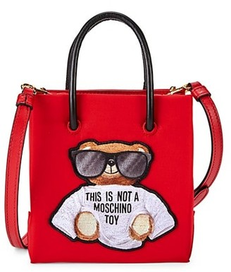Moschino Bear Embroidered Tote