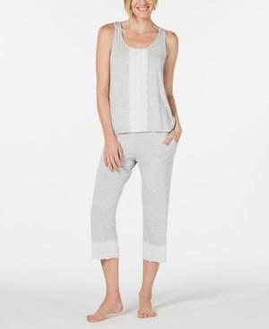 Charter Club Plus Size Lace-Trim 2pc Pajama Set, Created for Macy's