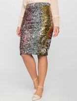 ELOQUII Plus Size Studio Variegated Sequin Pencil Skirt