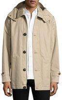 Burberry Darnsbury Hooded Field Jacket, Stone