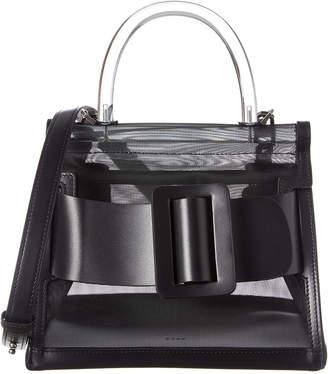 Boyy Karl 24 Double Handle Iron Leather & Mesh Shoulder Bag