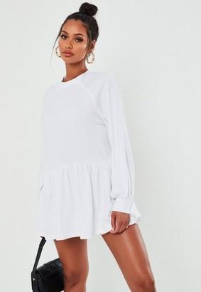 Missguided Petite White Oversized Smock Sweatshirt