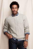 Lands' End Canvas Men's Fisherman Crewneck Sweater