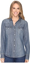 Stetson Denim Western Blouse Women's Blouse