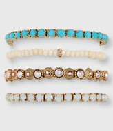 Faux Gem Bracelet 4-Pack