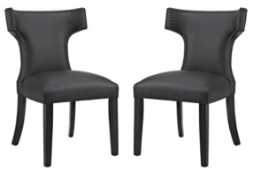Modway Curve Dining Side Chair Vinyl Set of 2