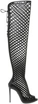 Le Silla 110mm Cage Leather Over The Knee Boots