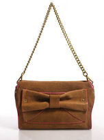 Nanette Lepore Beige Leather Bow Detail Shoulder Handbag Size Small