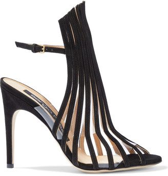 Sergio Rossi Pvc And Suede Sandals