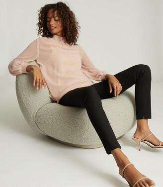 Reiss Sandrine - Semi Sheer Blouse in Blush