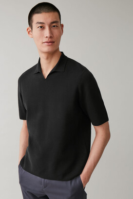 Cos Slit Collar Polo Shirt