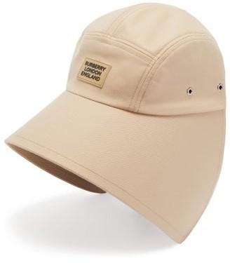 Burberry Logo-plaque Cotton Bonnet Hat - Beige