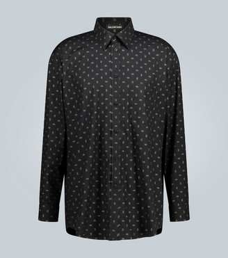 Balenciaga BB-print cotton shirt