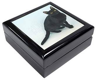 Black Bombay Cat Keepsake/Jewellery Box Christmas Gift
