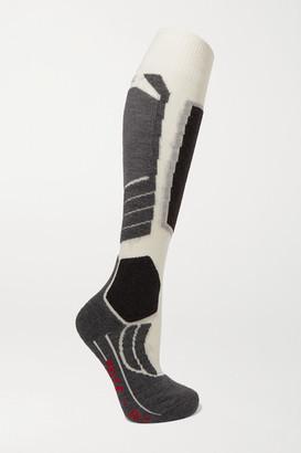 FALKE ERGONOMIC SPORT SYSTEM Sk2 Intarsia Wool-blend Ski Socks - Off-white
