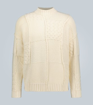 J.W.Anderson Cotton patchwork knitted sweater