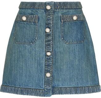 Miu Miu A-line denim skirt
