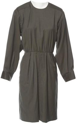 Saint Laurent Khaki Wool Dresses