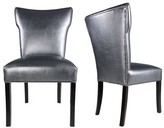 Everly Cresson Vinyl Upholstered Contemporary Side Chair Quinn Upholstery Color: Pewter