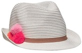 Old Navy Straw Pom-Pom Fedora for Girls
