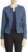 Helene Berman Women's Zip Front Tweed Jacket