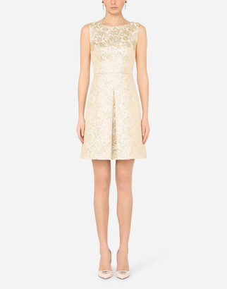 Dolce & Gabbana Lame Jacquard Midi Dress