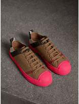 Burberry Canvas Check and Leather Trainers , Size: 41.5