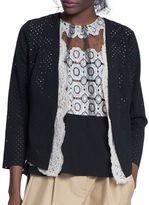 Tracy Reese Cherry Lace Lined Cardigan